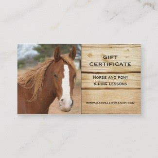 Gift Certificates Gift Vouchers And Templates In Business Card Size Horseback Lesson Gift Certificate Template