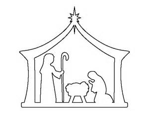 manger template nativity pattern use the printable outline for crafts