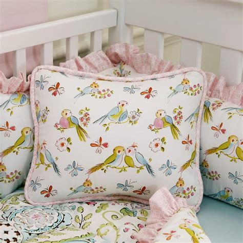 Crib Bedding Fabric Birds Fabric By The Yard Pink Fabric Carousel Designs