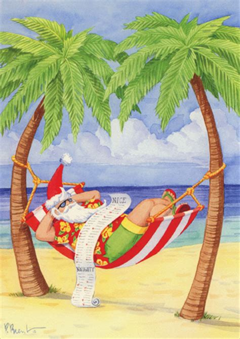 santa  hammock  beach paul brent tropical christmas card  lpg