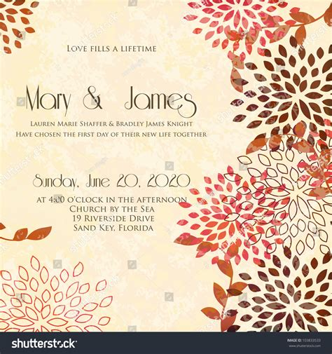 Wedding Greeting Background by Wedding Card Invitation Abstract Floral Background Stock