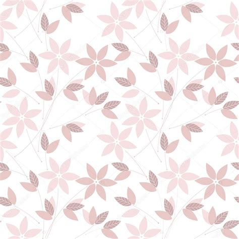 stock pattern w cute seamless pattern with pink flowers and leaves