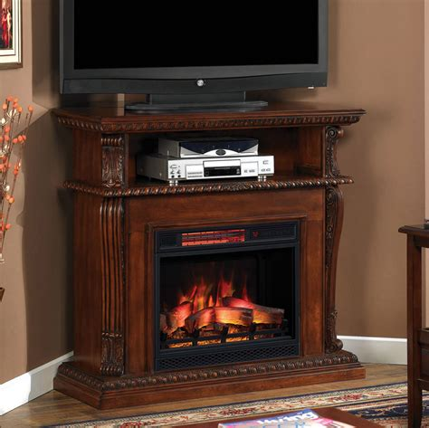 corinth infrared electric fireplace media console in