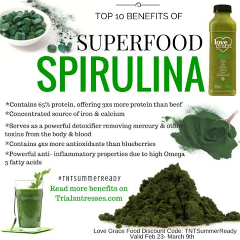Getting Your Detox In Gear With These Superfoods by Top 10 Benefits Of Superfood Spirulina