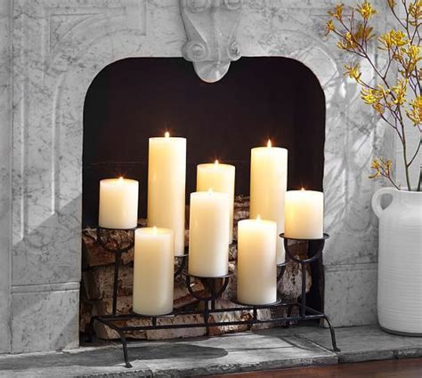 candle fireplace insert fireplace candlelight holder pottery barn love home
