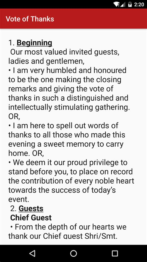 Sles Of Vote Of Thanks Speech stageready android apps on play