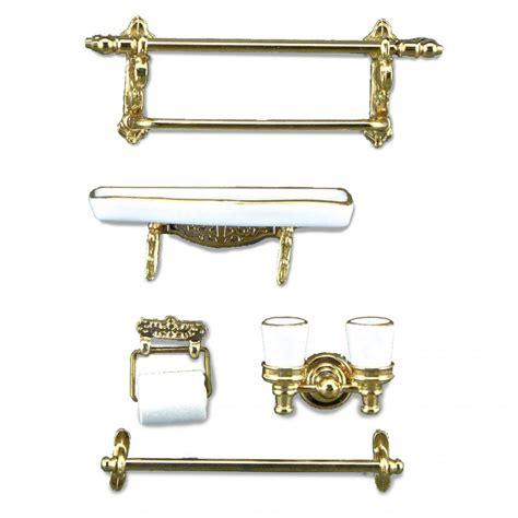 reutters white and gold bathroom accessories