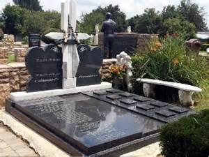 Granite Grave Vases New Tombstones Installed