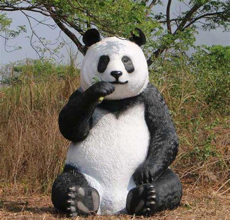 Jumbo Panda Garden Statues Natureworks Com Au Panda Garden Rock