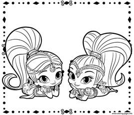 shimmer shine coloring pages printable