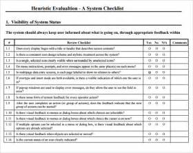 Design Evaluation Template by Sle Heuristic Evaluation 6 Documents In Pdf Word