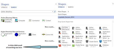 visio shape search search of stencils in visio 2013