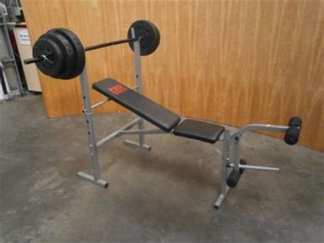 pro power 30kg weight bench x1