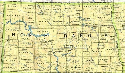 printable road map of north dakota north dakota state maps