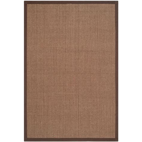 Home Depot Safavieh Safavieh Fiber Brown 6 Ft X 9 Ft Area Rug Nf441c