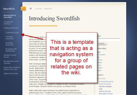 mediawiki templates using mediawiki templates to organize content organizing