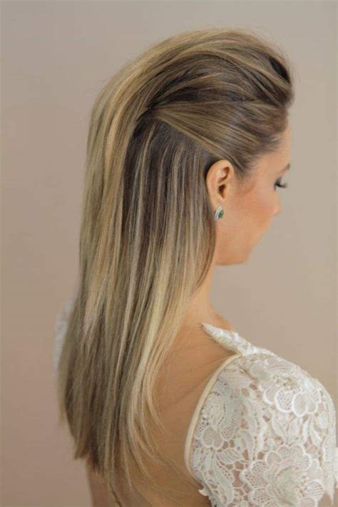 wedding hairstyles down pinterest modern and sleek wedding hairstyle via marcos proenca
