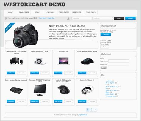 ecommerce wordpress templates free http webdesign14 com
