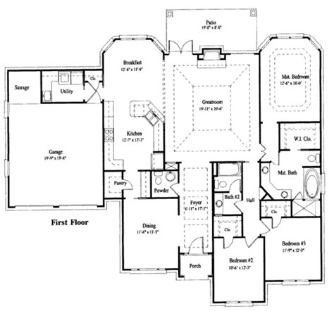 blue print house traditional style house plan 3 beds 2 50 baths 2182 sq