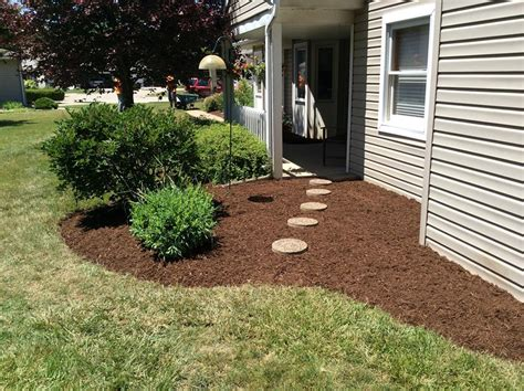 mulch bed haney landscaping cleveland ohio commercial and residential lawn and property