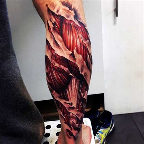 tattoo arm muscle 50 ripped skin tattoo designs for men manly torn flesh ink