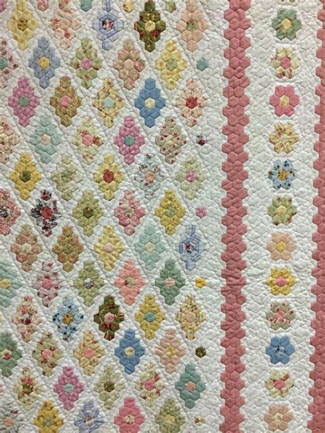 Hexagon Patchwork Quilt - 194 best hexie quilts images on hexagon