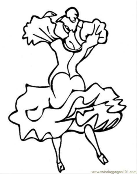 free coloring pages of flamenco dancing