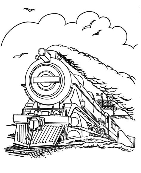 free coloring pages of trains to color and print