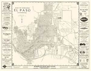 historic city maps el paso tx by western map co 1938