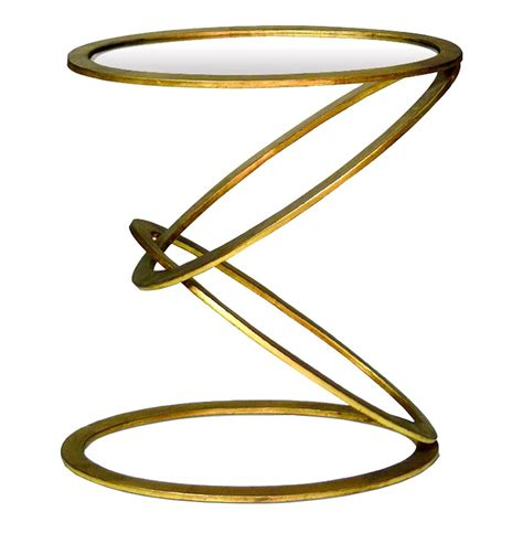 gold leaf side table mobius contemporary gold leaf end side table kathy kuo home