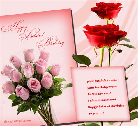 Happy Birthday Wishes Roses Pink Rose Bunch Happy Belated Birthday Greeting Card