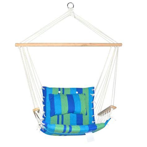 Buy Hammock Swing Hammock Chair Swing Blue Green Timber Padded Seat Buy