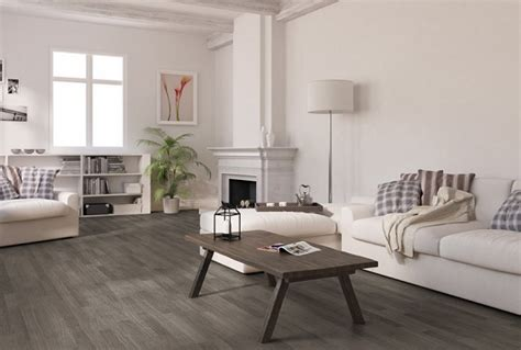 Living Room Ideas With Gray Floors Vintage Living Room With Oak Plank Grey Laminate Flooring