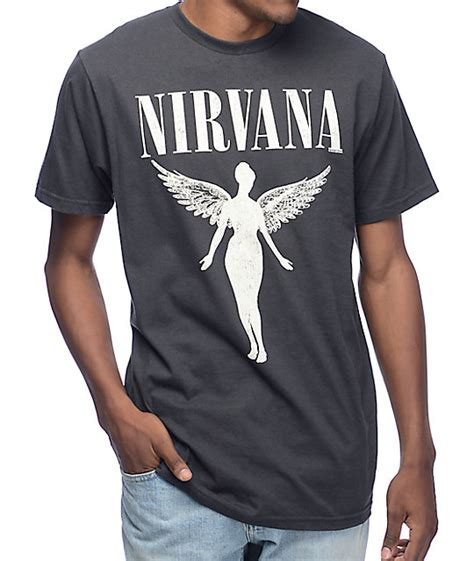 T Shirt Nirvana Logo nirvana tour vintage black t shirt