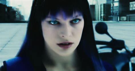 film blue black ultra violet movie hairstyle milla jovovich strayhair
