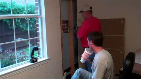 How To Into A Door by How To Add A Door In An Exterior Brick Wall Part 1 Of 2