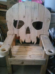 wooden skull lawn chair plans skull chair pattern plans only adirondack chair