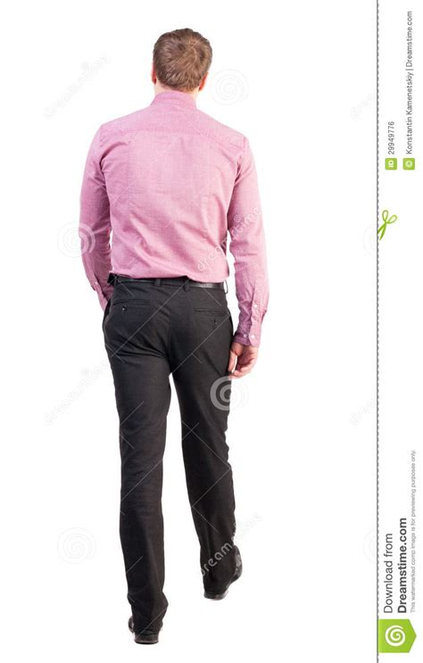 Business Floor Plan by Back View Of Walking Business Man Royalty Free Stock Image