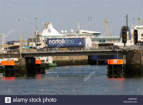 dublin port dublin port ireland and a norfolkline company truck