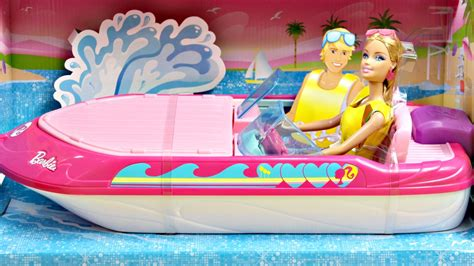 barbie dolphin boat set barbie glam boat with canopy and 1 doll mattel bcg79