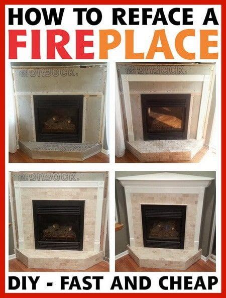 How To Refinish A Brick Fireplace by 25 Best Ideas About Fireplace Refacing On