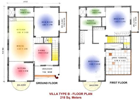 second floor house plans indian pattern floor plans of villas at aguada anchorage goa india
