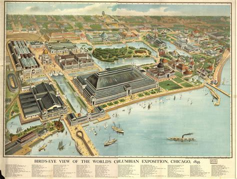 birds eye view maps chicago worlds columbian exposition 1893 birds eye view map chicago mappery