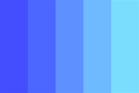Electric Blue ultra electric blue color palette