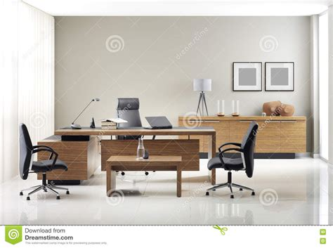vip office furniture stock image image of leader laptop