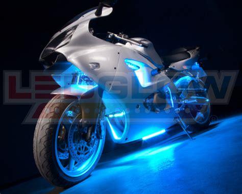 led ice cycle lights 12pc ice blue led motorcycle underglow engine body lights