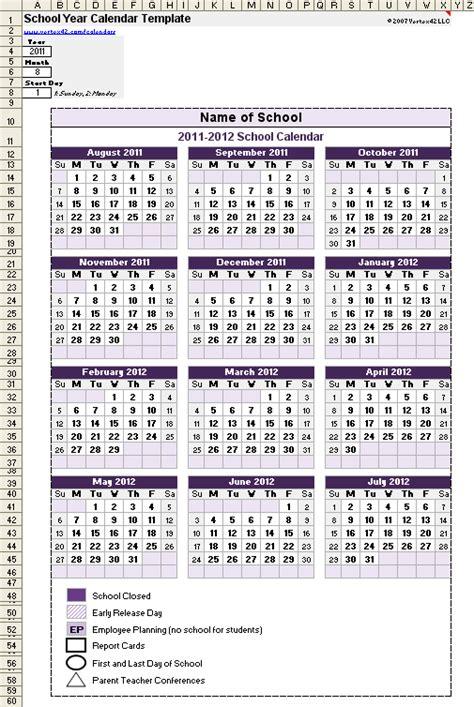 academic year calendar template school calendar template 2017 2018 school year calendar