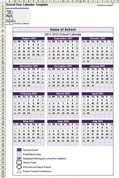 free printable academic year planner school calendar template 2018 2019 school year calendar