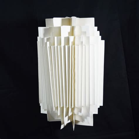 Folding Paper Lanterns - white cylinder geometrical shaped folding paper lantern