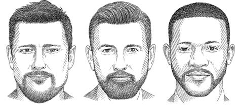 what kind of face goes good with short hair how to pick the right beard for your face shape fashionbeans